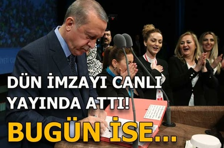 Cumhurbaşkanı Erdoğan'ın canlı yayında onayladığı karar Resmi Gazete'de