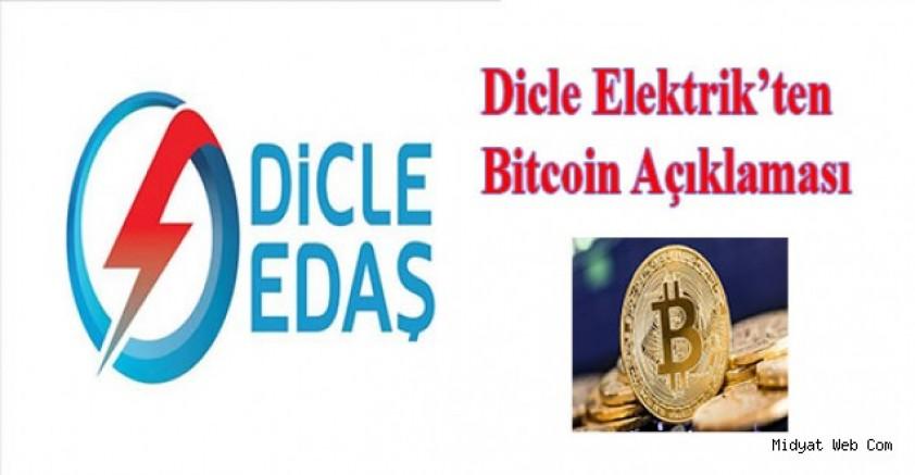 Dicle Elektrik'ten Bitcoin Açıklaması
